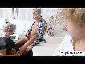 Ebony elder mummy female toying with her coochie